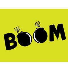 boom design vector image