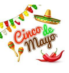 cinco de mayo mexican party poster banner vector image