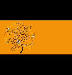 design floral tree vector image