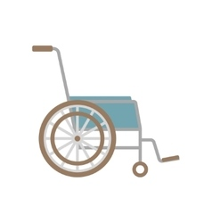 flat wheelchair icon vector image