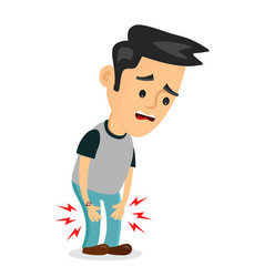 pain in the legs problems flat vector image vector image