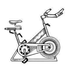 sport equipment bike engraving vector image vector image