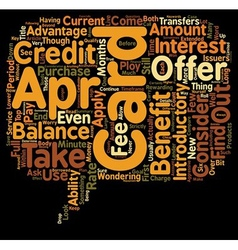 Apr Credit Cards You Can Find text background vector image vector image