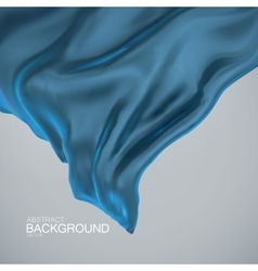 Blue silk fabric vector image vector image