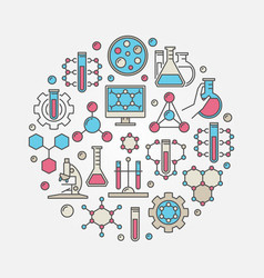 chemical round vector image