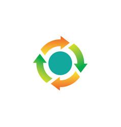 Circle spinning arrows logo vector