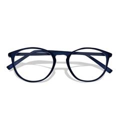 dark blue glasses vector image