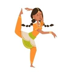 Indian dancer bollywood traditional party culture vector