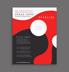 red and black corporate business brochure vector image vector image