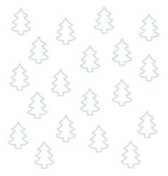 seamless pattern pine tree christmas silhouette vector image