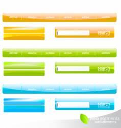 web navigation details vector image vector image