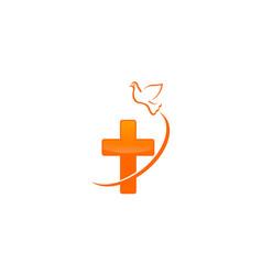 christian dove logo vector image