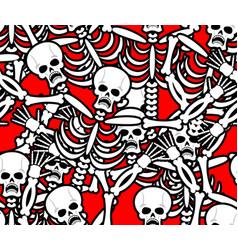 hell seamless pattern skeleton in sinners vector image vector image