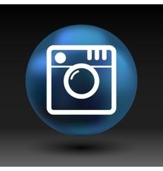 Hipster photo Camera icon Photo camera pictogram vector image