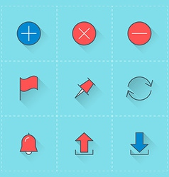 icon set in flat design style For web site design vector image vector image
