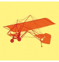 microlight glider vector image vector image