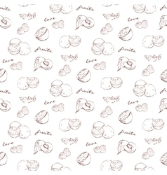 scetch pattern fruit vector image
