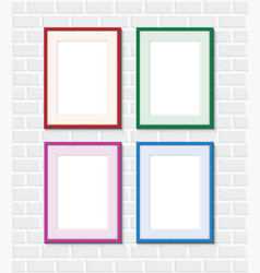 set of brick walls vector image