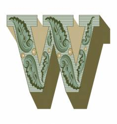 western letter w vector image vector image