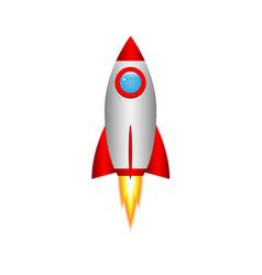 3d cartoon rocket vector image