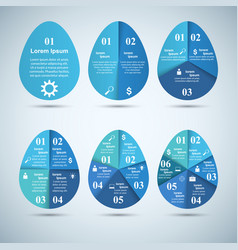 Abstract 3d digital infographic egg vector