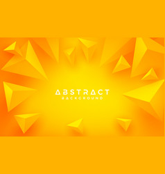 abstract 3d triangle orange yellow background vector image