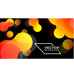 abstract bannerbag round liquid colors and lines vector image