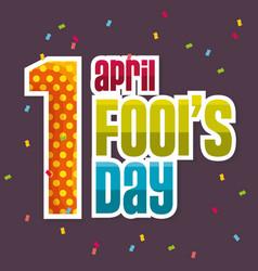 april fools day celebration card vector image