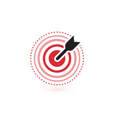 arrow hit target icons flat winner symbol vector image