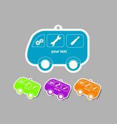 Auto mechanic badge vector