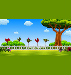 beautiful view with the large tree vector image