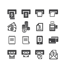 bill and money icon vector image