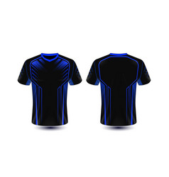 black and blue layout e-sport t-shirt design vector image