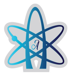 Blue atheist symbol on a white background vector