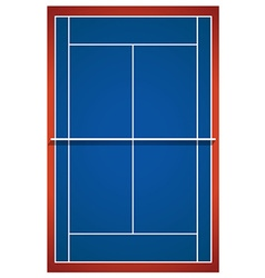 Blue badminton court layout vector