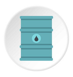 Blue oil barrel icon circle vector