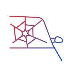 Broken car glass gradient linear icon vector