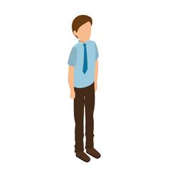 businessman isometric avatar character vector image