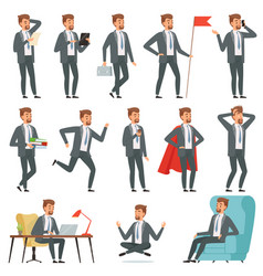 Characters of businessman set of businessman in vector