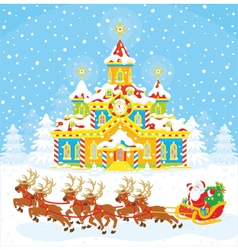 Christmas Sleigh of Santa vector