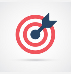 colored target trendy symbol vector image