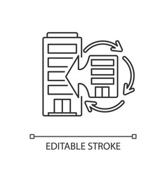 Corporate synergy linear icon vector