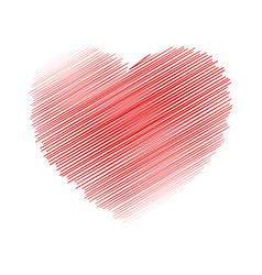 crayon valentine 17 vector image