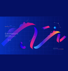 Creative design poster with geometric shapes vector