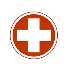 Cross medical symbol vector