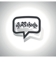 Curved casino message icon vector image