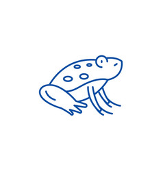 cute frog line icon concept cute frog flat vector image