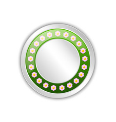 Decorative blank spring badge with flowers vector