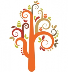 decorative tree pattern vector image
