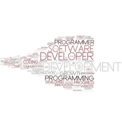 Developer word cloud concept vector
